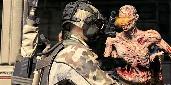 Call of Duty Black Ops Soldier and a zombie