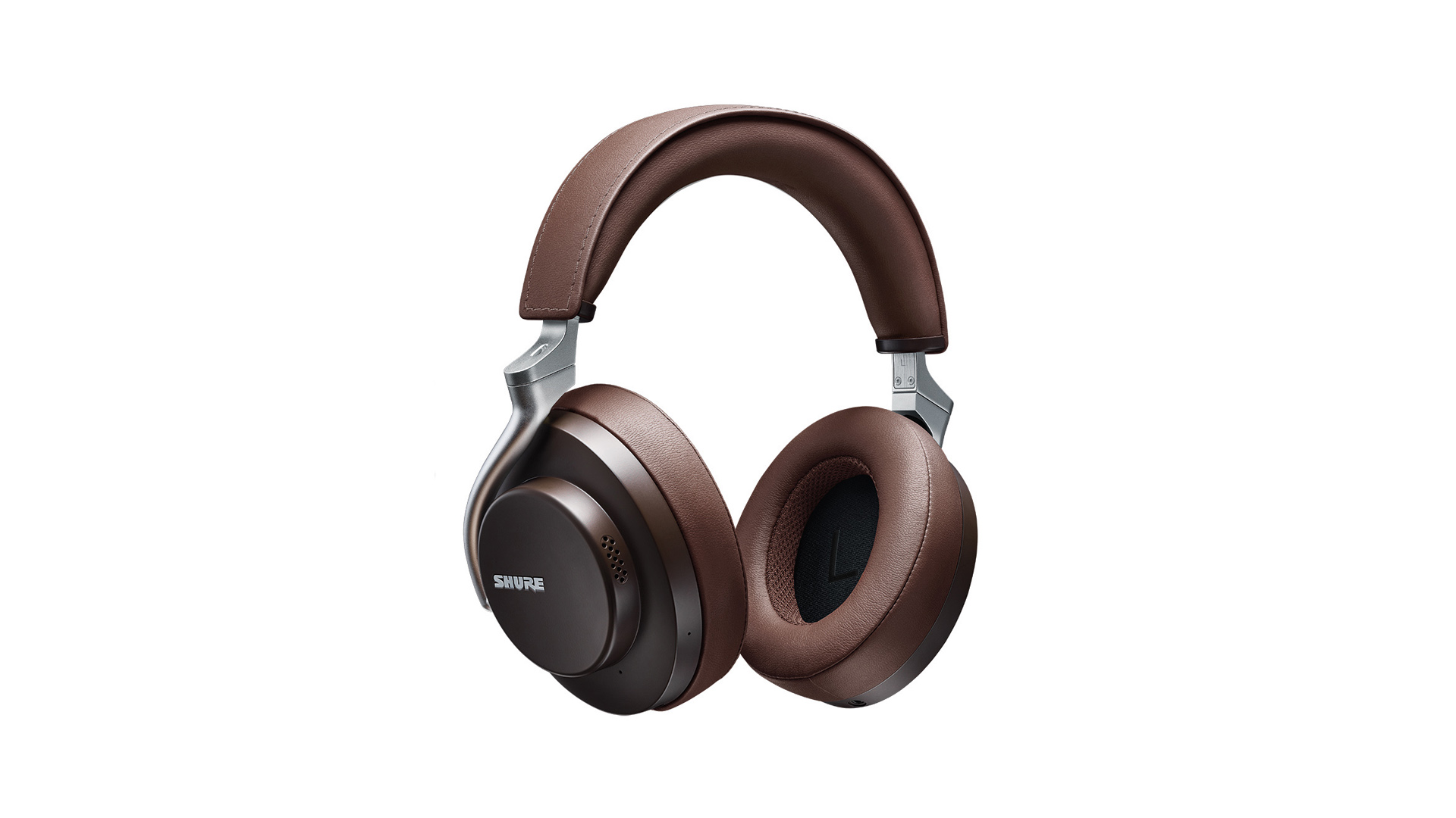 the shure aonic 50 noise cancelling headphones in brown