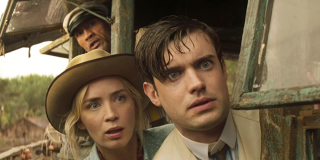 The Rock, Emily Blunt, and Jack Whitehall in Jungle Cruise