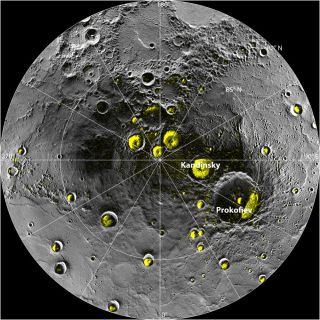 Water Ice Deposits in Mercury's North Polar Region
