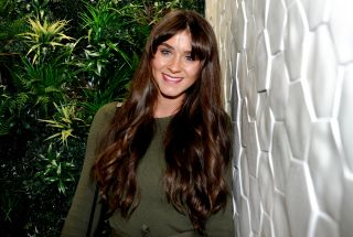Brooke Vincent poses at a hair extension launch in 2017