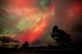 Northern Lights In Sky