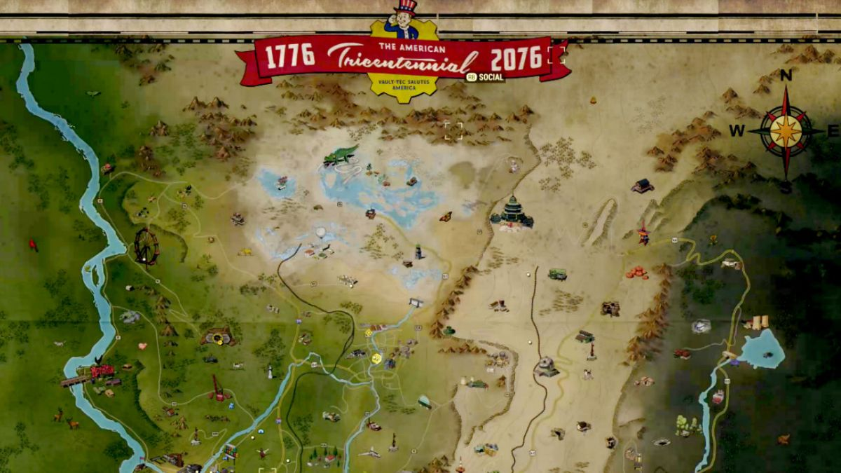 Take a look at the full Fallout 76 map, and make some travel plans ...