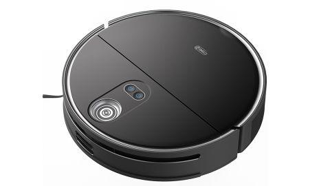 360 S10 Robot Vacuum review: Image of black robot vacuum