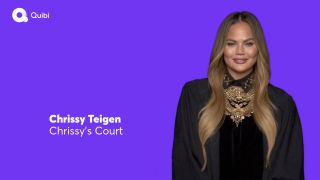 Model Chrissy Teigen in a promotional video for the Quibi streaming service.