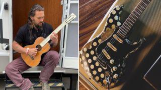 Jason Momoa and Buddy Guy Fender Stratocaster