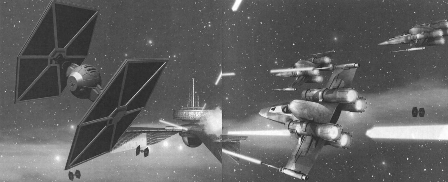 Art from the official TIE Fighter strategy guide