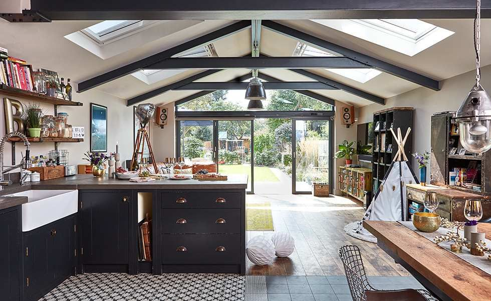 Real Home: An Industrial-style Kitchen Extension To A 1930s House