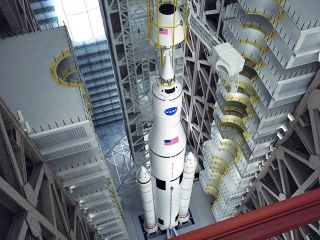Space Launch System Artist's Rendering