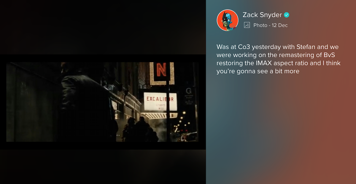 Zack Snyder's Vero Post