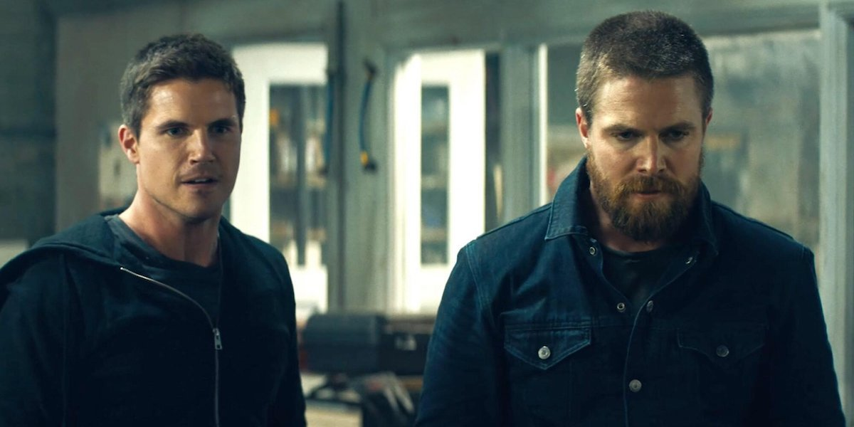Robbie Amell and Stephen Amell in Code 8