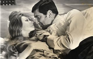 Catherine Schell with George Lazenby in 1969 James Bond film On Her Majesty's Secret Service