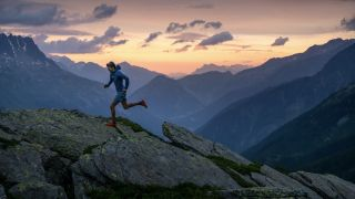 runner in the Alps