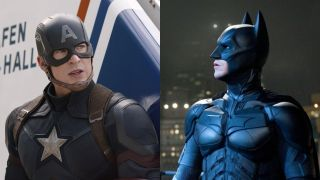Captain America on the left, Batman on the right