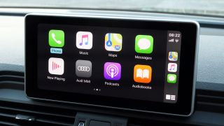 Apple CarPlay in action on the Q5 TFSI