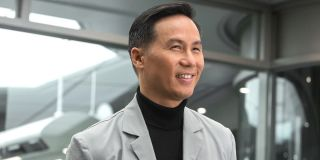 Dr. Henry Wu (B.D. Wong) stands in the lab in a scene from 'Jurassic World'