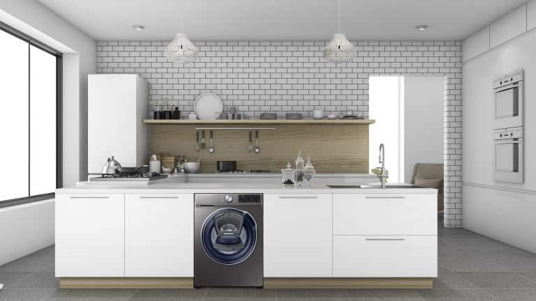best smart washing machine: SAMSUNG QuickDrive + AddWash WW90M645OPX