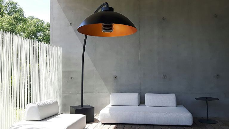 the best patio heaters: stylish patio heater available from cuckooland