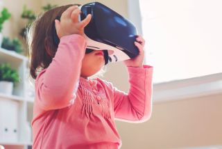 Toddler with Virtual Reality Headset