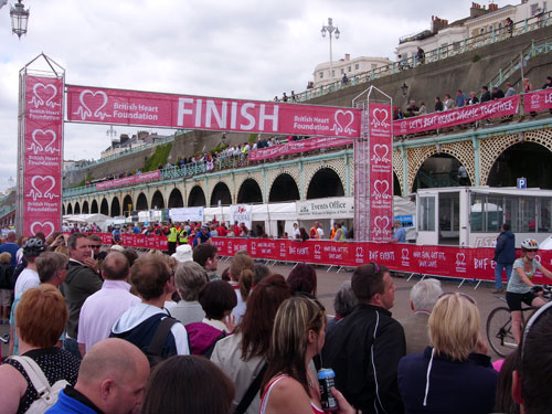 Finish line in Brighton, London to Brighton 2010