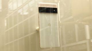 Google Pixel 6 Pro on display NYC