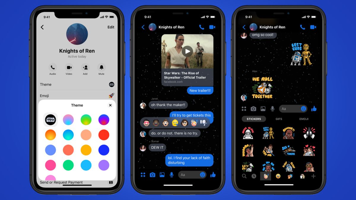 Facebook Messenger has a new Star Wars-themed dark mode – here's how to try it