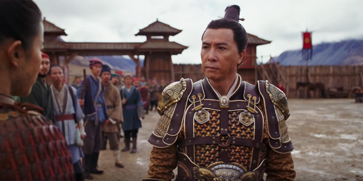 Donnie Yen as Commander Tung in Mulan