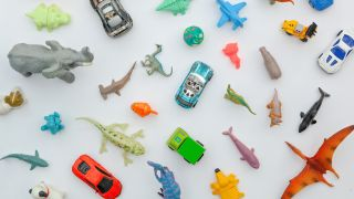 collection of plastic toys