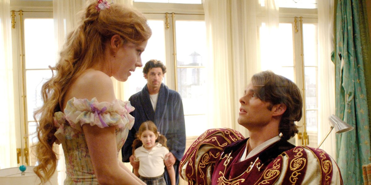 Amy Adams, Patrick Dempsey, Rachel Covey, and James Marsden in Enchanted