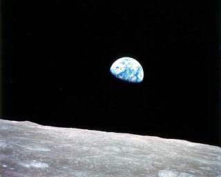 Earth rise photo taken by Apollo 8 astronauts