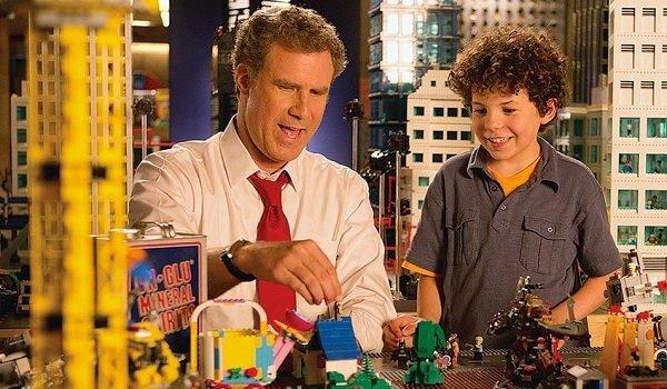 The Lego Movie Will Ferrell Jadon Sand The Man Upstairs and Finn deconstruct Bricksburg