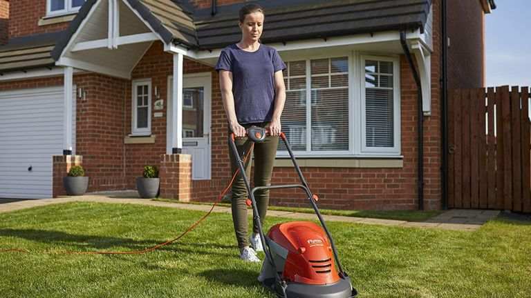 best small lawn mower: Flymo HoverVac 250