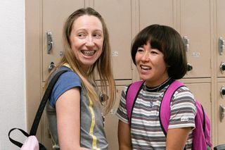 Anna Kone (Anna Konkle) and Maya Ishii-Peters (Maya Erskine), shown.