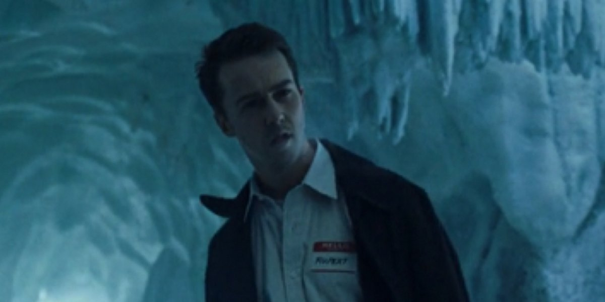 Edward Norton as the Narrator in Fight Club