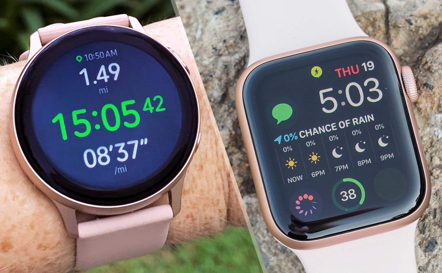 Apple Watch 5 Vs Galaxy Watch Active 2 Which Smartwatch Wins Tom S Guide