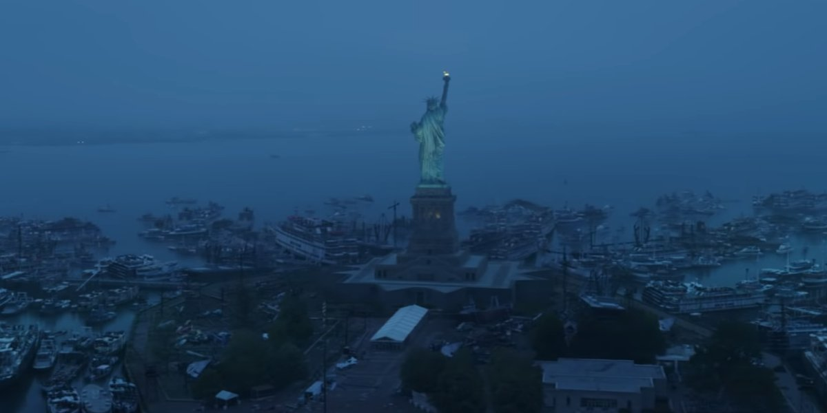 Would the rest of the world look like Liberty Island?
