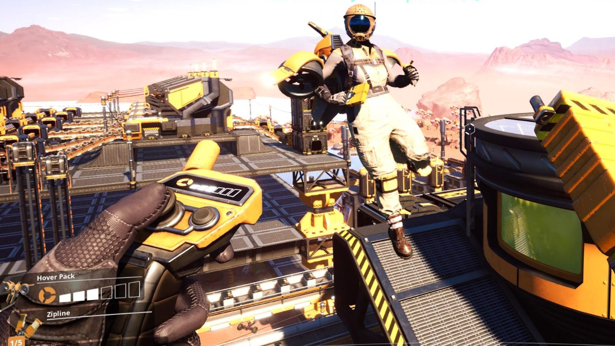 Satisfactory is getting a hoverpack that makes building massive factories so much easier