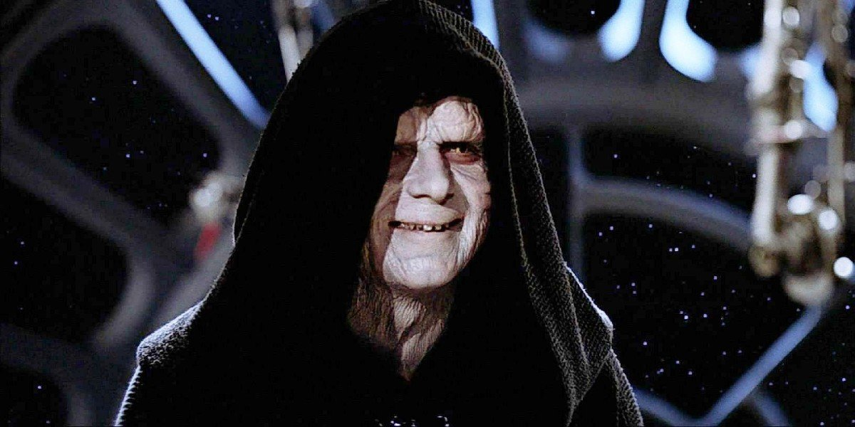 Emperor Palpatine smiling Star Wars
