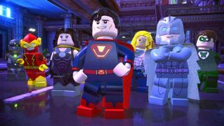 Lego versions of Superman, Flash, Wonder Woman and other heroes