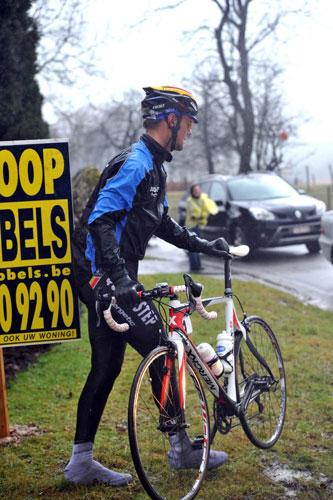 Tom Boonen abandons, Kuurne-Brussels-Kuurne 2010