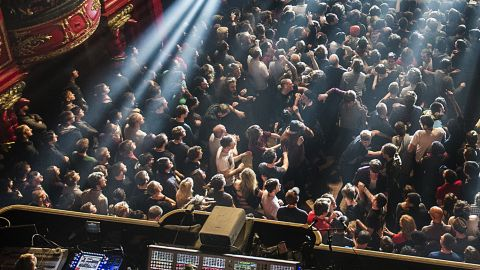 A crowd at a prog gig