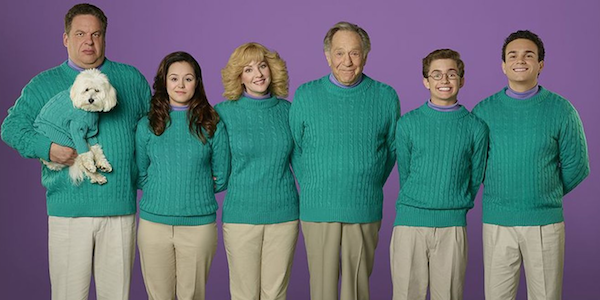 the goldbergs cast in green sweaters
