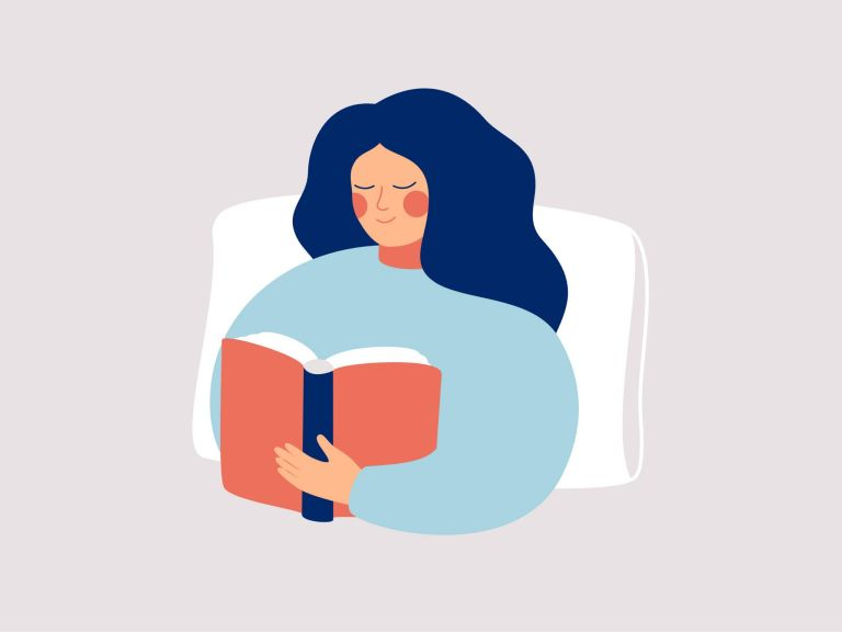 how to relax: reading in bed