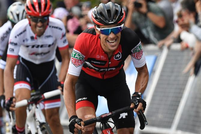 Richie Porte attacks near the end of stage 3 at the Tour de France