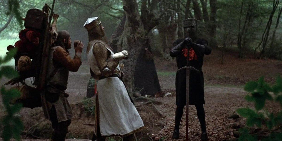 Graham Chapman and John Cleese in Monty Python and the Holy Grail