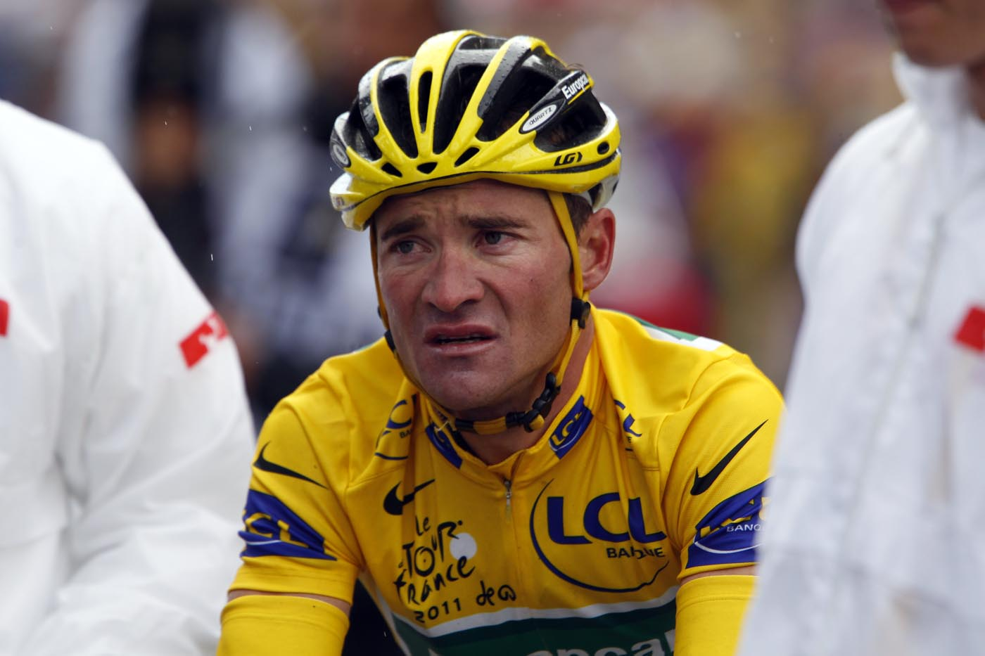 Thomas Voeckler at finish, Tour de France 2011, stage 16