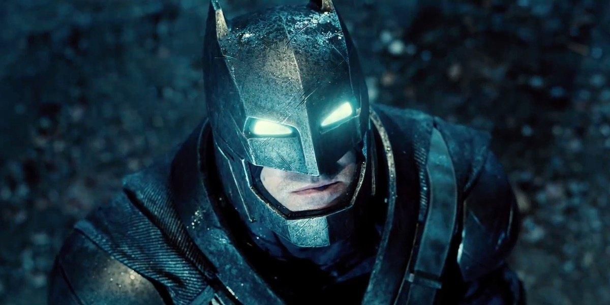 Ben Affleck as armored Batman in Batman v Superman