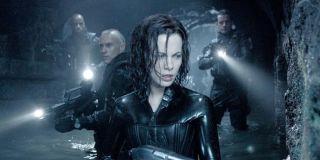 Kate Beckinsale and the cast of Underworld: Evolution