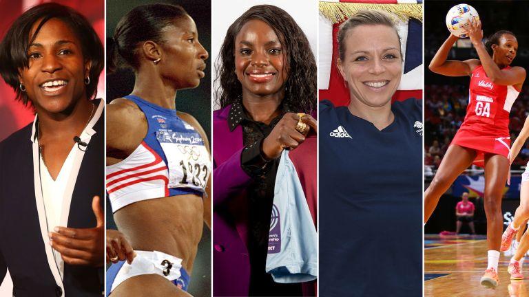 Game-changing sportswomen Eniola Aluko, Denise Lewis, Maggie Alphonsi, Kate Richardson-Walsh and Pamela Cookey