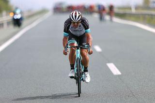 Robert Stannard (Team BikeExchange attacks) in breakaway during the 76th Tour of Spain 2021 Stage 9